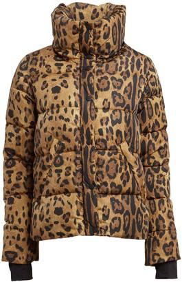 SAM. Isabel Leopard Puffer Jacket