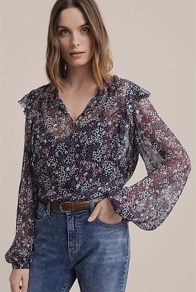 Witchery Button Front Blouse