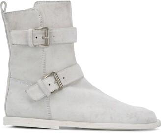 Ann Demeulemeester Buckled Strap Boots