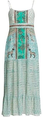 Saloni Veronica Silk Crepe de Chine Dress
