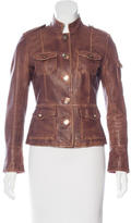 Tory Burch Leather Collared Jacket