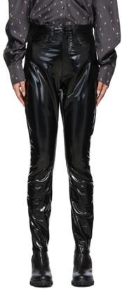 Rag & Bone Black High-Rise Vinyl Skinny Trousers