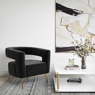 """Thumbnail for your product : CosmoLiving by Cosmopolitan Taylor 32"""" Wide Velvet Armchair"""