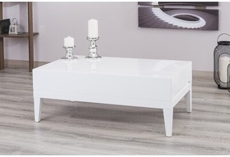 Brayden Studio Pilning Modern Coffee Table Color: White Lacquer