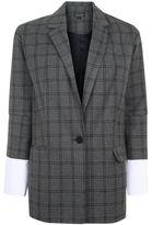 Topshop Check oversized blazer
