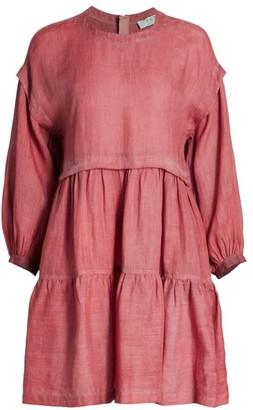 Sea Yara Puff-Sleeve Tent Dress