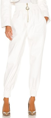 Divine Heritage x REVOLVE Faux Leather High Waisted Sweatpant
