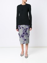 Jason Wu Floral Prince of Wales Skirt With Floral Embellishment
