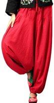 Mordenmiss Women's Linen Pants Daily Large Leg Pants 2016
