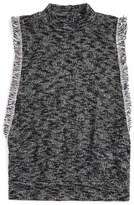 Hip Mock Neck Knit Top (Big Girls)