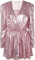 Amen sequinned wrap dress