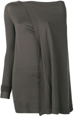 Rick Owens draped knitted top