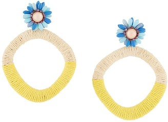 MaryJane Claverol Oversize Beaded Earrings