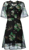 Marni sheer floral print dress - women - Silk - 44