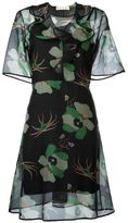 Marni sheer floral print dress