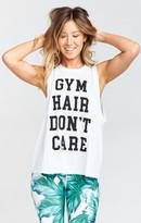 MUMU Mikey Muscle Tank ~ Gym Hair Graphic