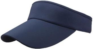 Winkey Women's Empty Top Sunhat Sport Headband Classic Sun Visor Caps Hat (Navy)