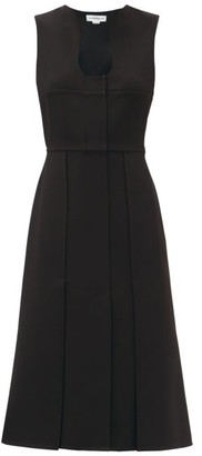 Victoria Beckham Keyhole-neck Crepe Midi Dress - Black