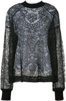Vera Wang layered floral lace top