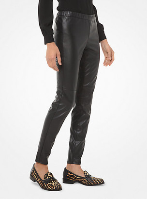 Michael Kors Faux Leather Leggings