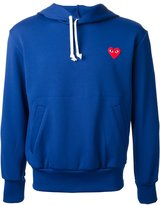 Comme des Garcons embroidered heart hoodie - men - Polyester - L