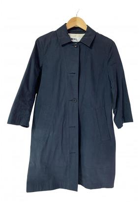 Margaret Howell Navy Cotton Trench coats