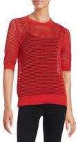 DKNY Mesh Cotton Pullover