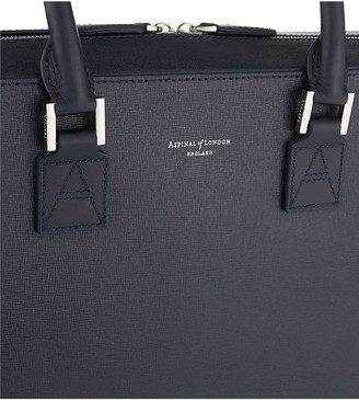 Aspinal of London Mount Street small saffiano leather tech bag