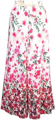 Marchesa Floral Flared Trousers