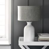 The White Company Ceramic Large Bottle Table Lamp , White Grey, One Size