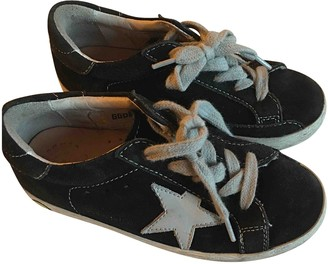 Golden Goose Blue Leather Slippers