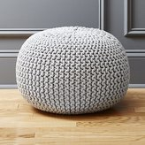 CB2 Knitted Silver Grey Pouf
