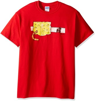 T Line T-Line Men's Funny Shirt Cat in Cheese Graphic T-Shirt