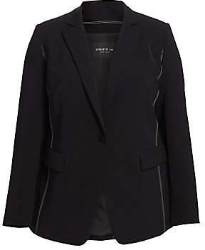 Lafayette 148 New York Lafayette 148 New York, Plus Size Women's Roman Contrast Stitch Blazer