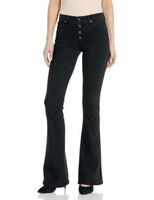 Paige Women's HIGH Rise Lou Flare with Exposed Buttons