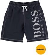 BOSS Boys Logo Swim Shorts – Navy