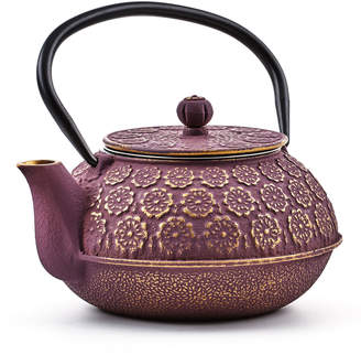 Old Dutch International Cherry Blossom Cast Iron Tetsubin Teapot, Purple