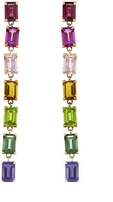 Suzanne Kalan Rainbow Hexagon Dangle Earrings - Yellow Gold