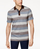 Tasso Elba Men's Striped Supima® Blend Polo, Only at Macy's