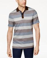 Tasso Elba Men's Striped Supimaandreg; Blend Polo, Created for Macy's