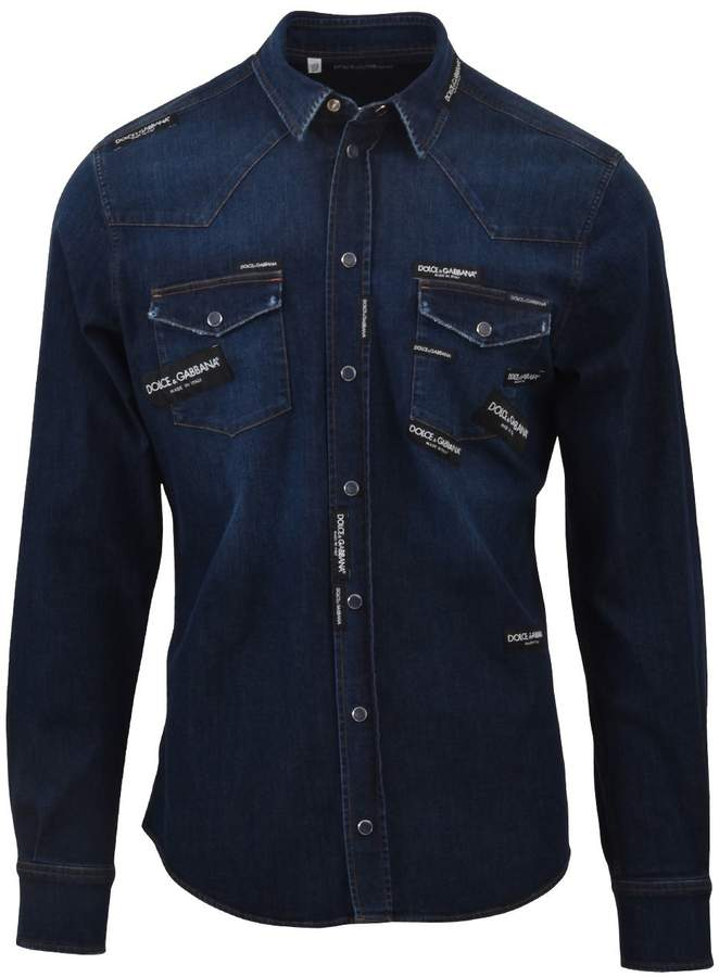 Dolce & Gabbana Denim Shirt With Patches