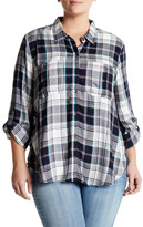 Jessica Simpson Long Sleeve Plaid Shirt (Plus Size)