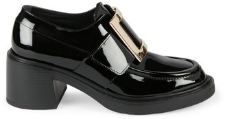 Roger Vivier Viv Rangers Patent Leather Loafers