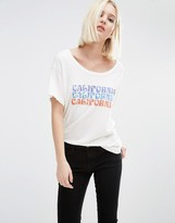 Current/Elliott Current Elliott Oversized T-Shirt With California Slogan