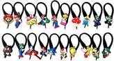 Hermes 20 pcs Super Mario Brothers # 4 Soft Zipper Pull Charms for Backpack Bag Pendant Jacket / 20 pieces Colore Zip Pendentif, decoration pour la Veste, Sac