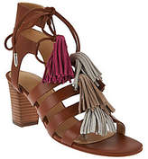 Marc Fisher Fringe Leather Lace-up Sandals -Playful