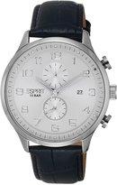 Esprit es105581002 mm Stainless Steel Case Black Leather Acrylic Men's Watch