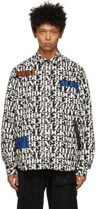 Sacai Reversible Black and Off-White Alexander Girard Edition Zippered Girard Shirt