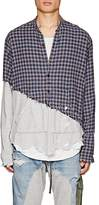 Greg Lauren Men's Plaid Flannel & Jersey Studio Shirt
