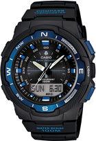Casio Mens Twin Sensor Black & Blue Watch SGW500H-2BV